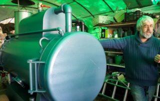 Machine à vapeur pour stériliser le sol